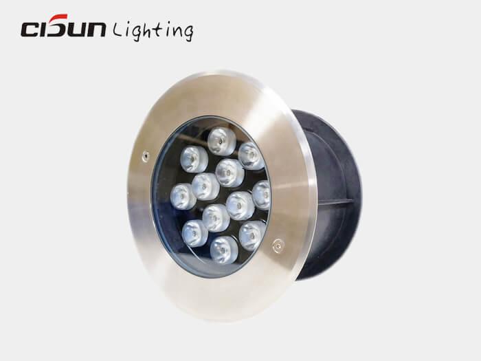 12W in ground lights