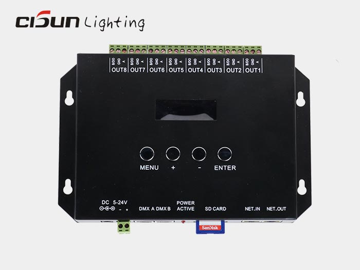 TC809 artnet to dmx led light controller